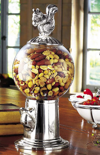Squirrel Candy And Nut Dispenser
