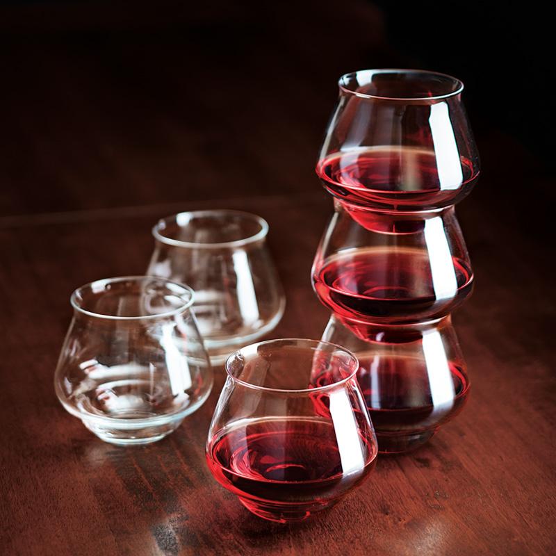 stackable italian wine glasses