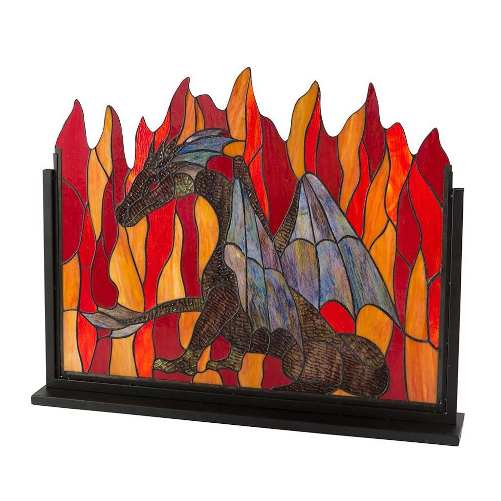 Stained Glass Dragon Fireplace Screen The Green Head
