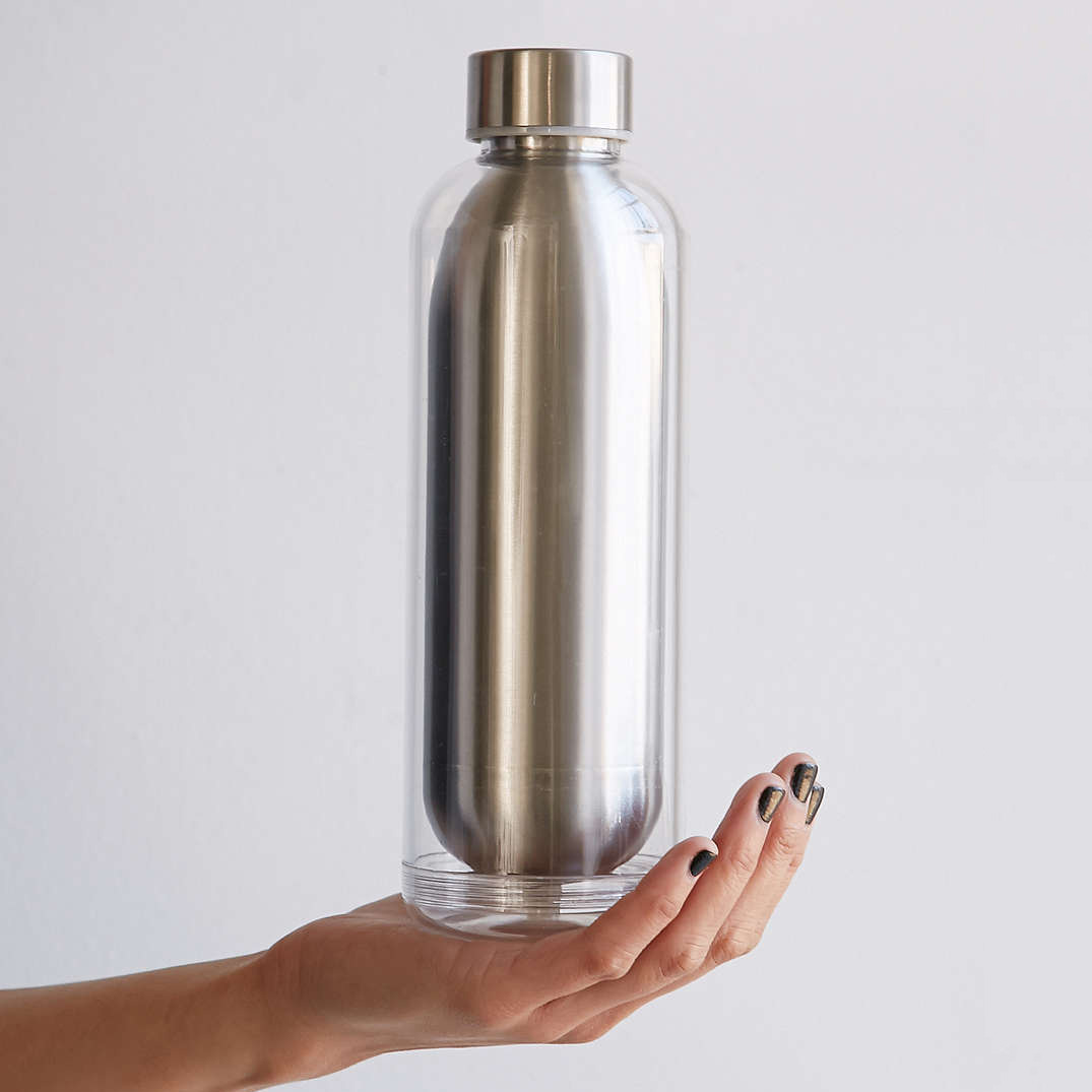 Stainless Steel Beverage Bottle With Removable Insulator