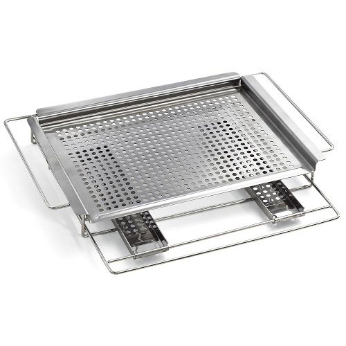 Stainless steel grill top smoker tray the green head