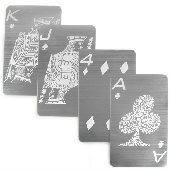 Stainless Steel Playing Cards The Green Head