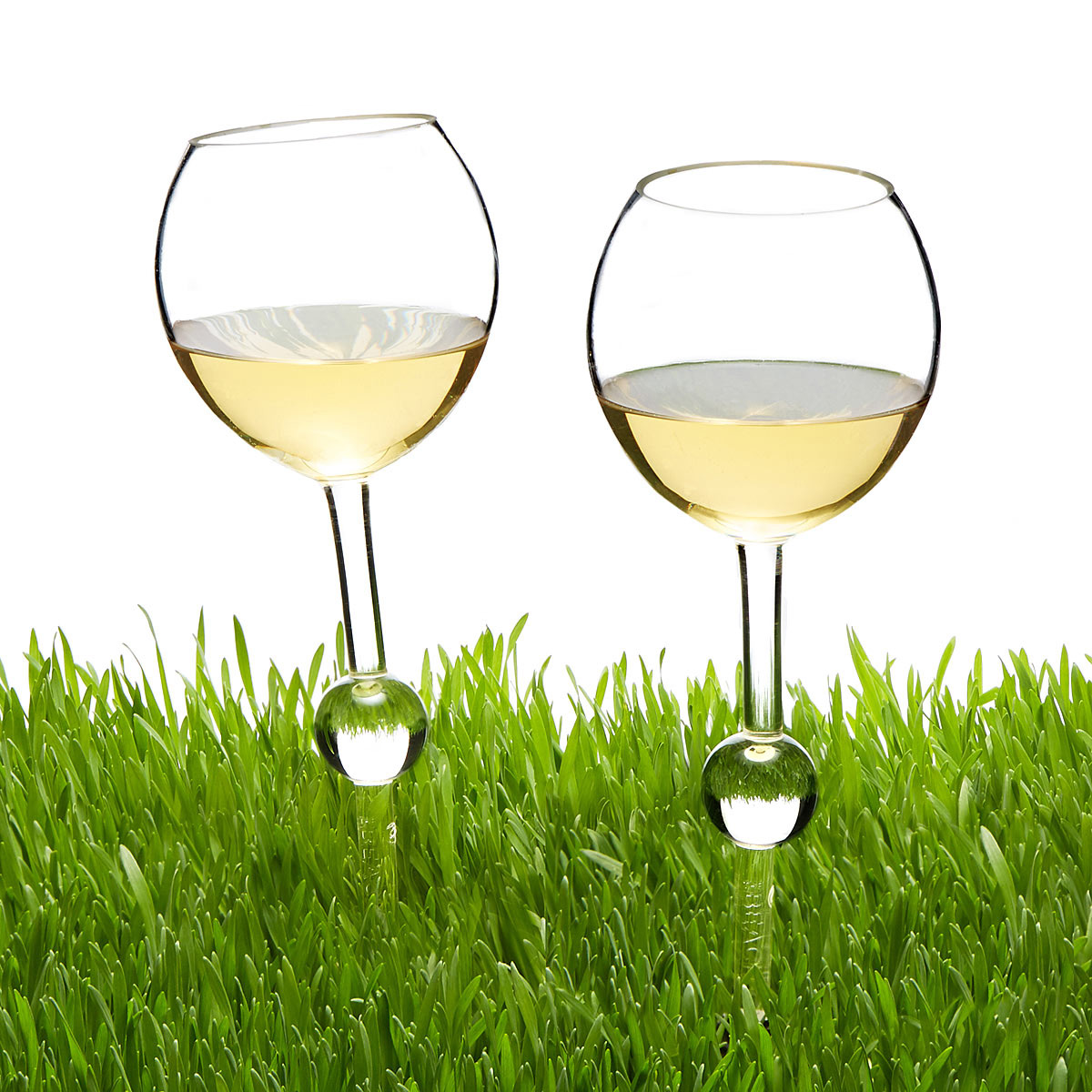 Staked Outdoor Wine Glasses The Green Head