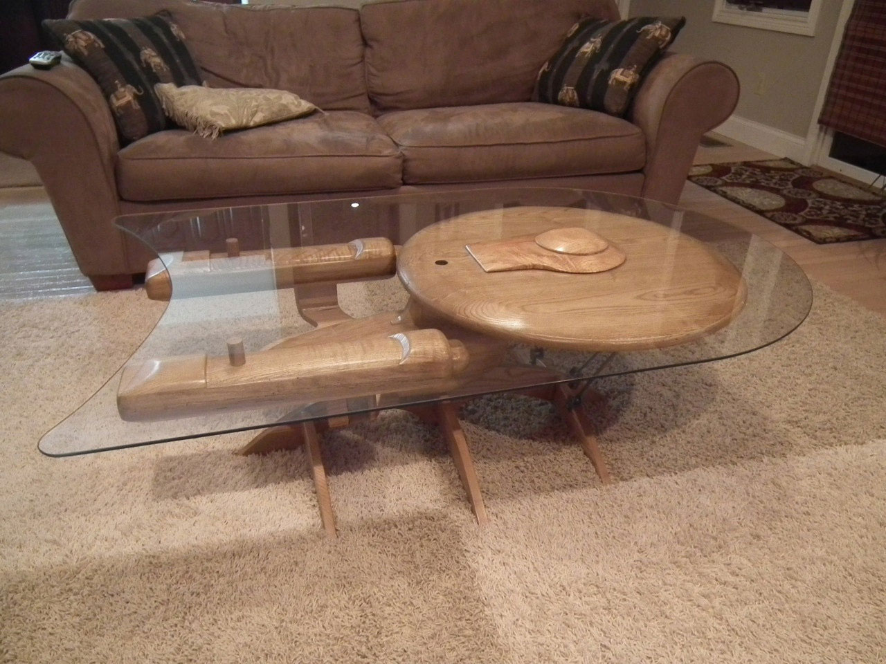 Star trek uss enterprise ncc 1701 c coffee table the green head One of a kind coffee tables