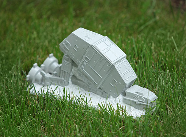 star wars at at lawn ornament the green head. Black Bedroom Furniture Sets. Home Design Ideas