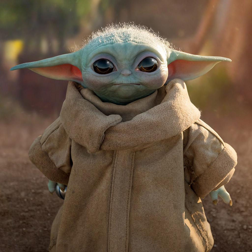 Life Size Grogu Baby Yoda Replica Figure From Star Wars The Mandalorian
