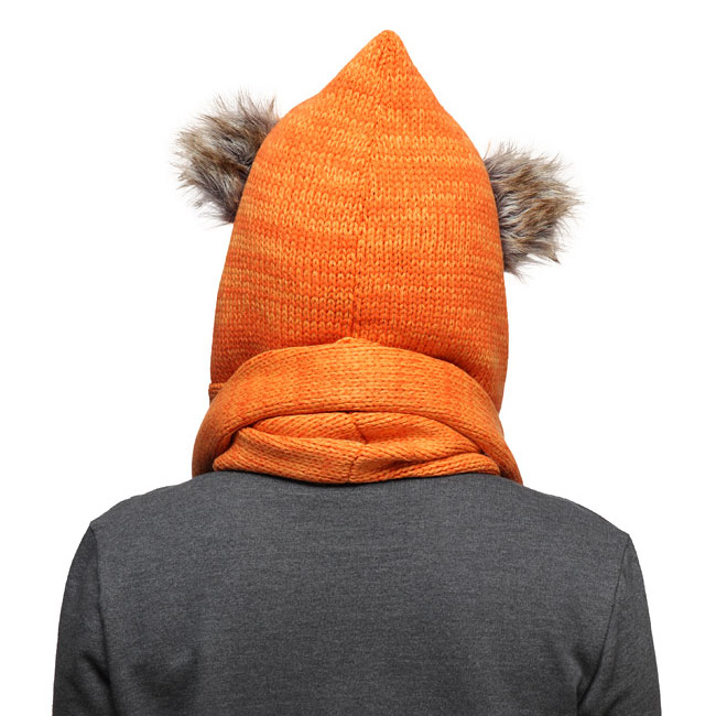 Star Wars Ewok Knit Hooded Scarf - The Green Head