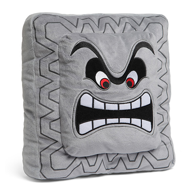 Super Mario Thwomp Pillow The Green Head