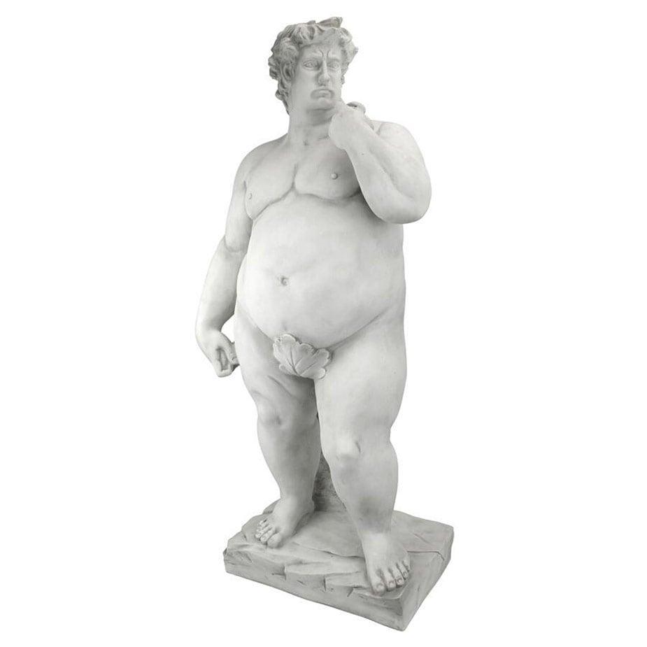super sized david statue   the green head
