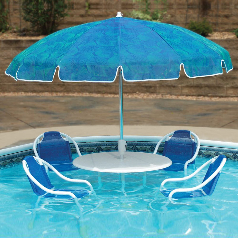 Swimming pool patio table set the green head for Best poolside furniture