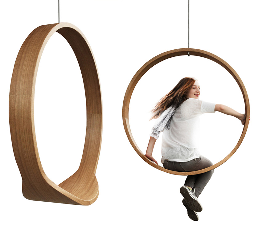 SWING Wooden Circle Chair The Green Head