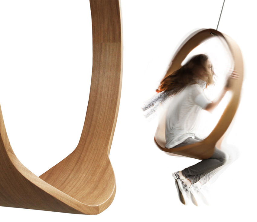 Swing Wooden Circle Chair