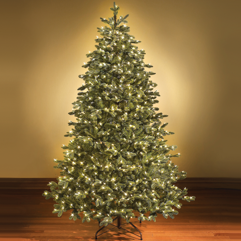 switchable color prelit christmas tree