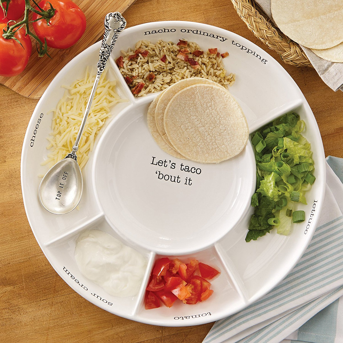 Taco Bar Serving Platter
