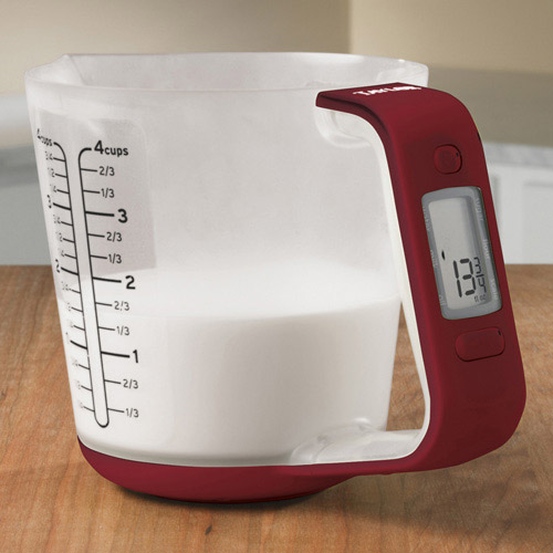 Electronic Measuring Cup : Taylor digital measuring cup and scale the green head