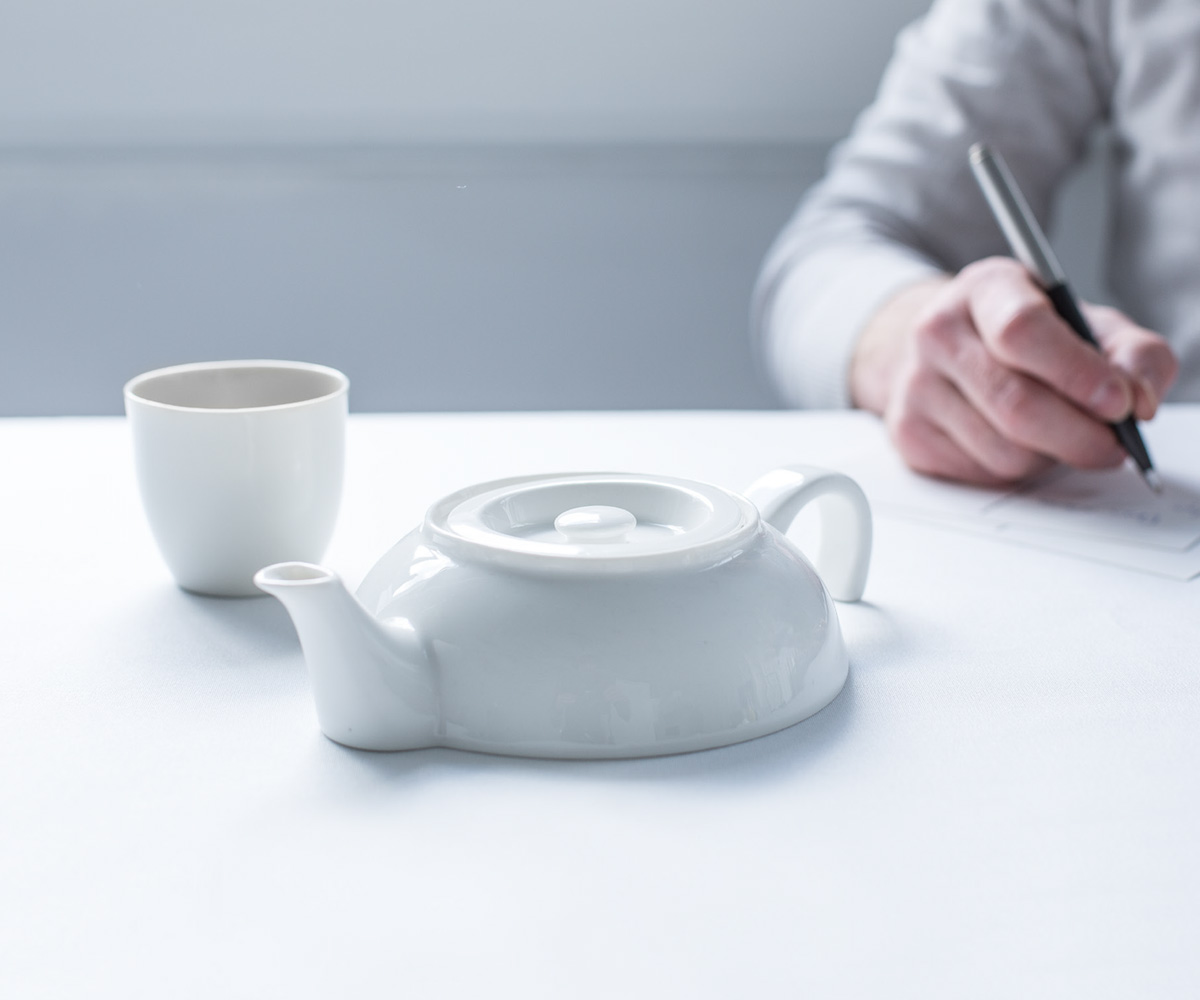 Tea For One Ceramic Half Teapot