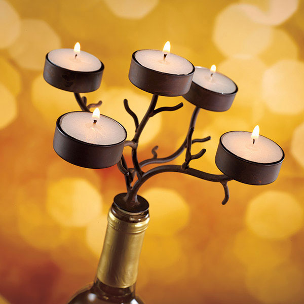 Tea Light Branches Wine Bottle Candelabra The Green Head