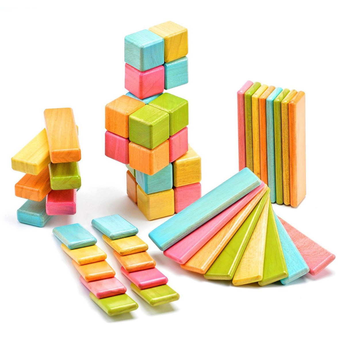 Tegu magnetic wooden blocks the green head