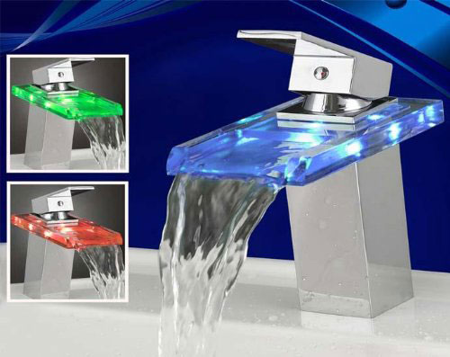 Temperature Sensitive Color Changing LED Waterfall Faucet - The ...