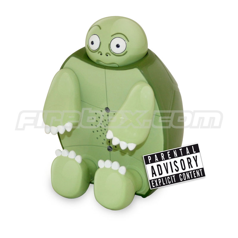Terry Turtle Motion Activated Swearing Toy The Green Head