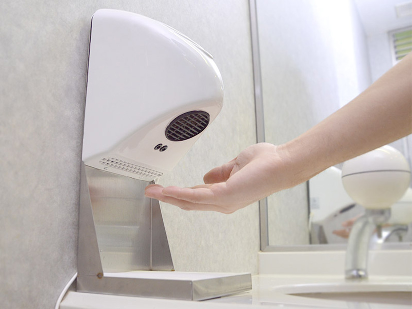 thanko compact home hand dryer the green head