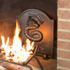 3D Dragon Cast Iron Fireback
