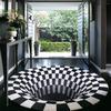 3D Vortex Optical Illusion Rug