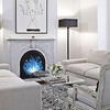 8-Bit Fireplace Art