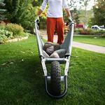 Allsop WheelEasy - Folding Yard Cart / Ground Load Wheelbarrow
