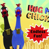 Animolds Giant Hug Me Rubber Chicken - Screams For 45 Seconds!