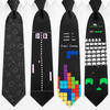 Arcade Game Ties - Asteroids, Pong, Tetris and Space Invaders
