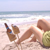 Bamboo Drink Holder Stakes For the Beach or Lawn