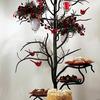 Bella Toscana Rustic Cast Iron Twig Serving Tower