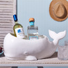 Beluga Whale Planter / Beverage and Ice Tub