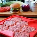 Burger Master - Press and Store 8 Hexagonal Burger Patties