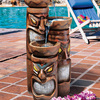 Cascading Tiki Garden Fountain