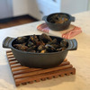 Cast Iron Seafood and Mussel Pot - Lid Holds Empty Shells