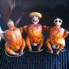 Ceramic Drunk Chicken Heads