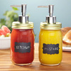 Chalk It Up Mason Jar Condiment Dispensers