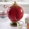 Christmas Ornament Serving Bowl w/ Candy Cane Ladle