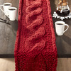 Chunky Cable Knit Sweater Table Runner