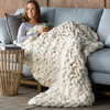 Chunky Knit Peruvian Wool Throw Blanket