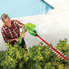 Cordless Telescoping Hedge Trimmer With 3 Position Pivoting Head