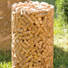Cork-Shaped Stool Made from Genuine Wine Corks