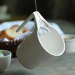 Creative Ceramic Mug with Slotted Tea Bag Holder