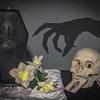 Creepy Coffin Skeleton Candle
