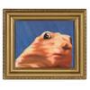 Dramatic Chipmunk Oil Painting