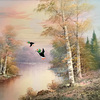 Duck Hunt Repurposed Oil Painting