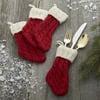 Festive Flatware Stockings