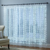 Festive Illuminated Window Sheer Curtains